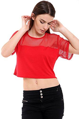 Janisramone - Débardeur - Femme noir * taille unique red