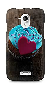 Amez designer printed 3d premium high quality back case cover for Micromax Canvas HD A116 (Love Cupcake)