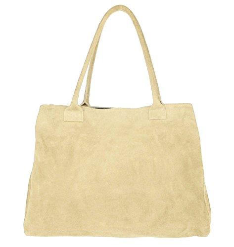 OBC Only-Beautiful-Couture, Borsa a mano donna blu Dunkelblau/Navy 39x30x17 cm (BxHxT) beige