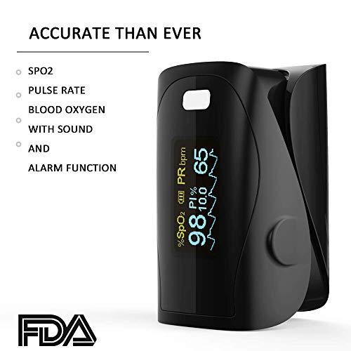 Oxímetro de sangre, Oxímetro de pulso para dedo - PRCMISEMED Pro Series F4...