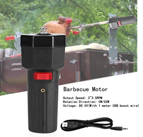 Grill Grill Motor DC 5 V, USB Elektrische Grillspieß rotisserie Motor Ersatz, 3~3,5 RPM CW/CCW Tragbare Universal Camping Home Party Grill Werkzeug Zubehör