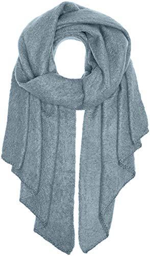 PIECES Damen Schal PCPYRON Long Scarf NOOS, Blau (Dusty Blue), One Size