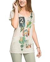 edc by ESPRIT Women's Mit Print T-Shirt
