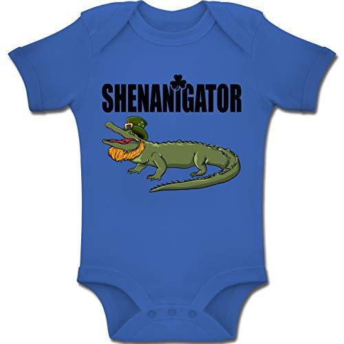 Wörtern Spiel Auf Lustiges Kostüm - Anlässe Baby - Shenanigator - St. Patricks Day - 1-3 Monate - Royalblau - BZ10 - Baby Body Kurzarm Jungen Mädchen