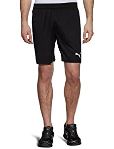 PUMA Herren Hose Team Shorts without Inner Slip, Black/White, S, 701275 03