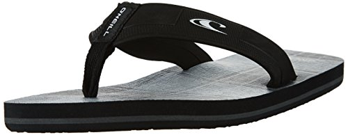 O'Neill Fm Imprint Santa Cruz Flip Fl, Tongs homme Schwarz (Black Allover Print)