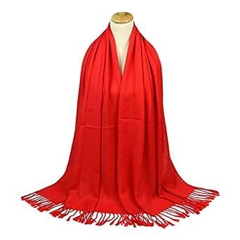 Image indisponible. Image non disponible pour la couleur   TOPSTORE01  Foulard Chaud Couleur Unie Écharpe Châle Femme ... 71a52337b58