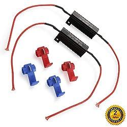 H1 H3 H7 50W Decoder Scheinwerfer LED Canbus Warning canceller Kondensator Fehler Lastwiderstand - Aus Twilight Garage Auto