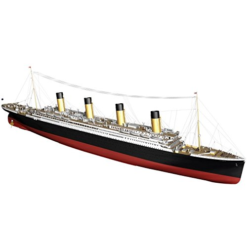 Billing Boats Rms Titanic White Star Line Ocean 510, Colore: Nero, Scala 1:14 4-Kit Nave