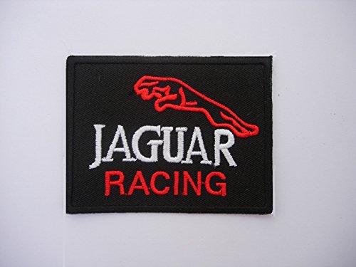 Patches–Jaguar Racing–Black Silver Red–Motorsport Racing–Classic denn–Iron Man Patch–Wandleuchte Embroidery Wappen bestickt kostüm Geschenk–Give away