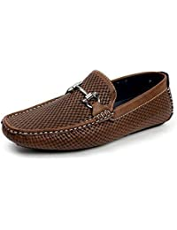 Jas Hombre sin Cierres Diseño Italiano Mocasines Zapatos de Conducción  Informal Náuticos Elegante Mocasin 184f7fc143e5