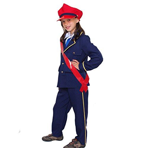 Kinder Kostüm Schaffner Tobias Deluxe Gr. 128 Eisenbahner Fasching Karneval (Lokführer Kostüm)