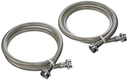 GENERAL ELECTRIC PM14X 10005Edelstahl Waschmaschine Schläuche, Vierfußgehstütze (2er Pack) (General Electric Appliance Parts)