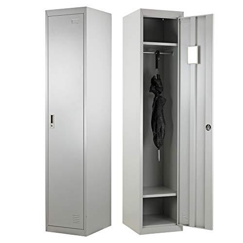 Brigros Armadio spogliatoio 1 anta 180 x 38 x 45 con serratura e specchietto interno