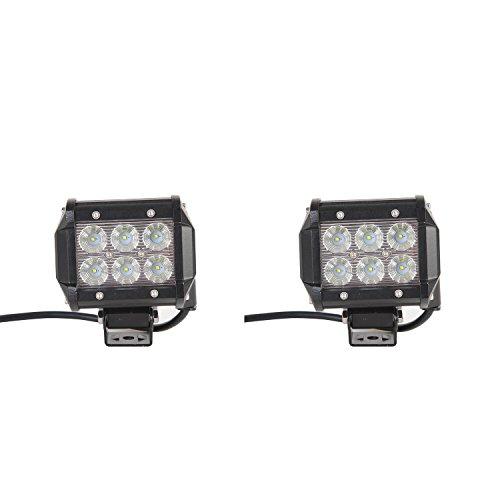 Jiehe JH-BD3Z18WFB-OEM-JR Faro da lavoro da 18W/6000K-6500K, luce diurna a LED con angolo del fascio da 60gradi, 760lm della lampada antinebbia per la zona attraverso fuoristrada/camion/ATV/SUV/barche 2-Pack
