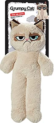 Rosewood Pet Products Grumpy Cat Floppy Plush Dog Toy by JAKKS SPECIFIC