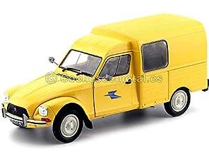 1984 Citroen Acadiane La Poste Amarilla 1:18 Solido 1800405