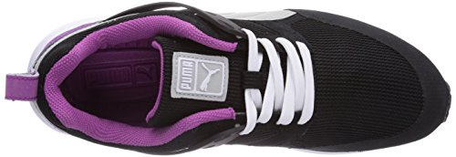 Puma Arial Basic Sports Wn's, Baskets Basses femme Noir - Schwarz (black-vivid viola 04)