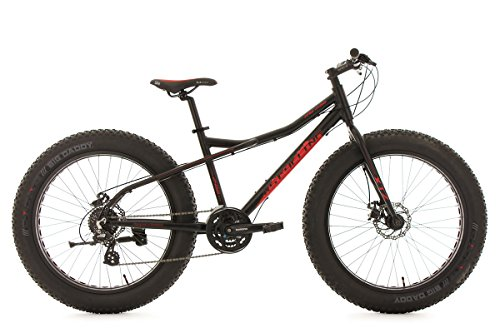 KS Cycling Fahrrad Mountainbike 26 Fatbike SNW2458 Aluminiumrahmen schwarz, 380M