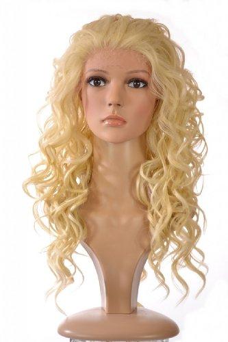 Spitzenfront Perücke | Langhaarig Platin Blond Volles Haar mit Locken Perücke | Inspiriert durch Kate (Perücke Platin Kurze Blonde)