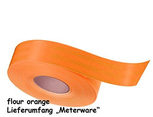 Preisvergleich Produktbild Konturmarkierungsfolie, Reflexfolie (Leuchtfolie) von 3M in flour Orange oder Gelb/Grün 5 cm Breit, 1 Meter lang (orange)