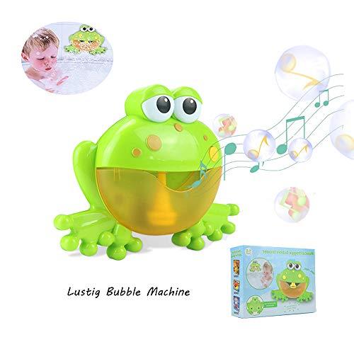 (AOLVO Seifenblasenmaschine für Kinder, Bubble Machine mit 12 Lieder Musikspieler & Automatische Bubble Blower & Batteriebetrieben Perfekt für Hochzeit Freien Party Weihnachts Geburtstagsgeschenk)