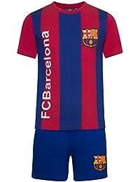 FC Barcelona Official Football Gift Boys Striped Kit Short Pyjamas Blue ec7f05980