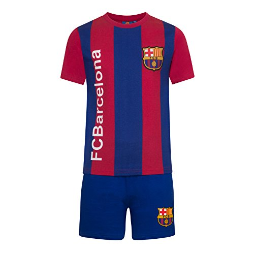 ec3ea85868d FC Barcelona Official Gift Boys Striped Kit Short Pyjamas Blue 11-12 Years