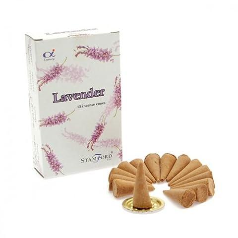 Stamford Lavender Incense Cones, 15 Cones x 12 Packs