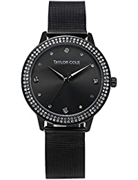 117d5c837d6 Taylor Cole Echo Reloj Mujer de Pulsera Cuarzo Acero Inoxidable Negro TC073