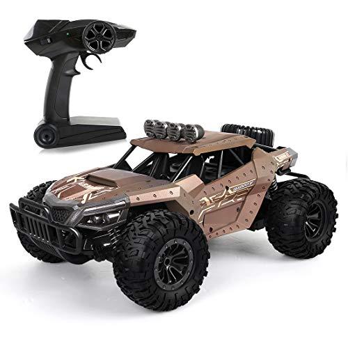 LBLA RC Ferngesteuertes Auto, 2,4 GHz Racing Buggy Auto Offroad Elektro High Speed Monster Truck, 20km/h RTR Schnelle Auto,Radio gesteuertes Auto für Erwachsene und Kinder (Gelb)