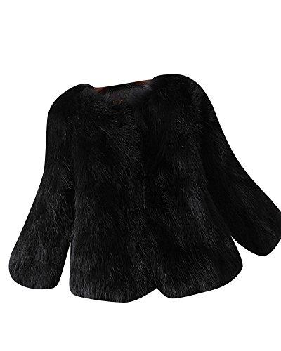 Penggeng donna caldo colore solido corto giacca cappotto maniche lunghe outerwear nero 3xl