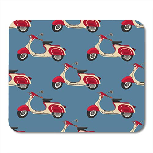 Lynx Scooter (Gaming Mauspads, Gaming Mouse Pad Vintage Retro Motor Scooter Seamless Pattern with Italy Background Vector 11.8
