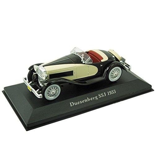 voiture-miniature-duesenberg-ssj-1933-143-noir-beige