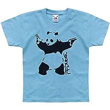 Nutees de Bansky y carcasa diseño de oso Panda con y pistola de clavos de Punk Unisex niños T-shirts infantil con 1-14 años de