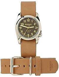 Bertucci h12108Unisex titanio patrimonio marrón banda de cuero esfera marrón reloj