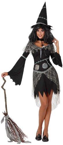 Atosa 8422259148654 - Verkleidung Hexe schwarz, - Gute Hexe Kostüm Für Erwachsene