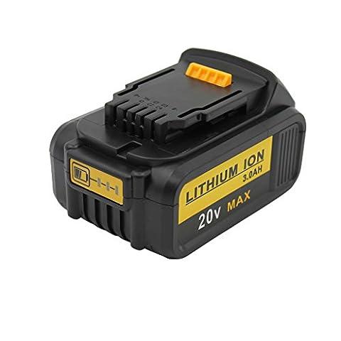 KINSUN Remplacement Outil électrique Batterie 20V 3.0Ah Li-Ion pour Dewalt Perceuse Sans Fil Pilote d'impact N123283, N123282, DCB201-2, DCB201, DCB200, DCB181-XJ, DCB181, DCB180 et Plus