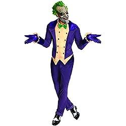 Rubie's - Disfraz de Joker de Batman Arkham City y máscara para adulto, talla única hasta 44 (I-880585STD)