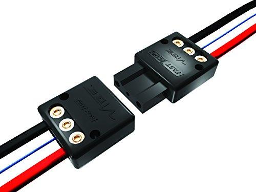 Vibe 50177 Fast Plug 3-poliges Steckverbinderset für Verstärker (Plus, Minus, Fernbedienung) - Abs Subwoofer Kabel