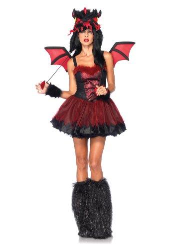 Leg Avenue 85138 - Dämon Drachen Kostüm, Größe S/M, - Leg Avenue Kostüm Drache