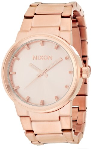 nixon-mens-womens-40mm-gold-plated-stainless-steel-case-watch-a160897-00