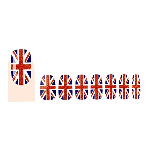 GLAM UP - Stickers Vernis Adhésifs ongles - Drapeau Anglais Union Jack