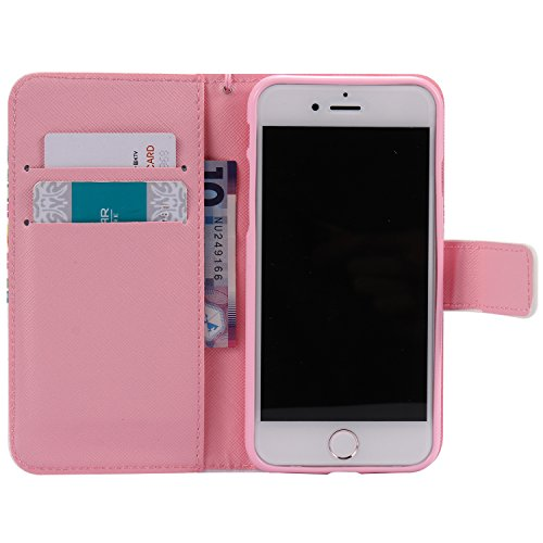 PU Cuir Coque Strass Case Etui Coque étui de portefeuille protection Coque Case Cas Cuir Swag Pour Apple iPhone 7 (4.7 pouces) +Bouchons de poussière (3AE) 11