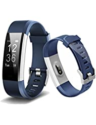 Smart Band, bogoss Fitness Tracker Monitor de frecuencia cardíaca Sensor actividad rastreador Bluetooth podómetro Monitor