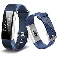 Smart Band, Bogoss fitness tracker cardiofrequenzimetro sensore Activity Tracker Bluetooth pedometro sonno monitor contapassi Slim orologio con touch screen