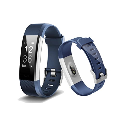 Smart Band, Bogoss Fitness Tracker Herzfrequenz Monitor Sensor Activity Tracker Bluetooth Schrittzähler Schlaf Monitor Schritt Zähler Slim Uhr mit Touchscreen -