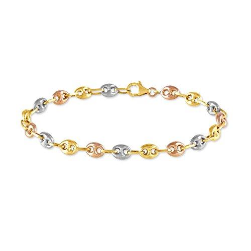 bracelet 3 couleurs d'or