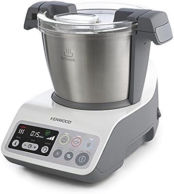 Kenwood kCook CCC200WH - Robot de cocina con capacidad de 1,5 l, motor de 800 W, báscula y libro de recetas incluidos, color gris y blanco