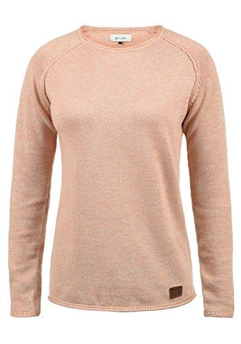BlendShe Daniela Damen Strickpullover Feinstrick Pullover Mit Rundhals Und Melierung, Größe:L, Farbe:Cameo Rose (20262)